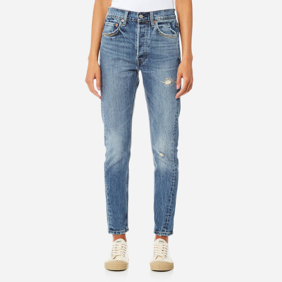 Levis Womens 501 Altered Skinny Jeans Moody Blues W28/l28