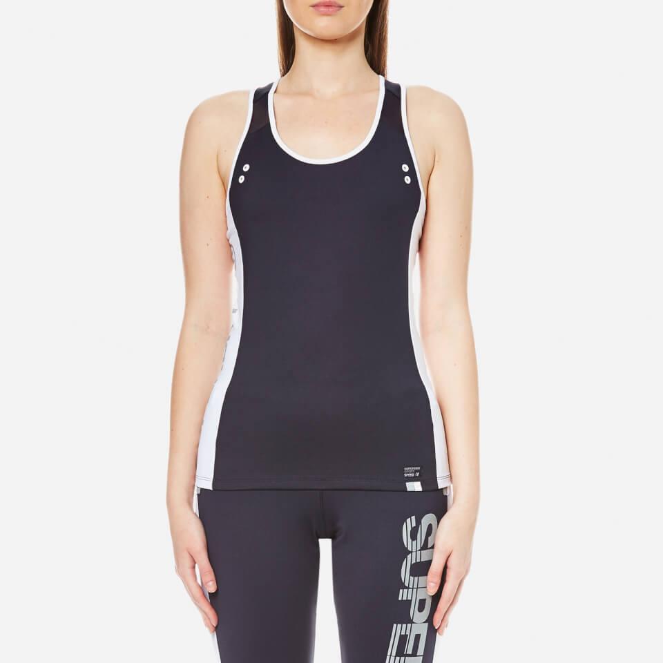 Superdry Womens Super Speed Sports Vest Navy M