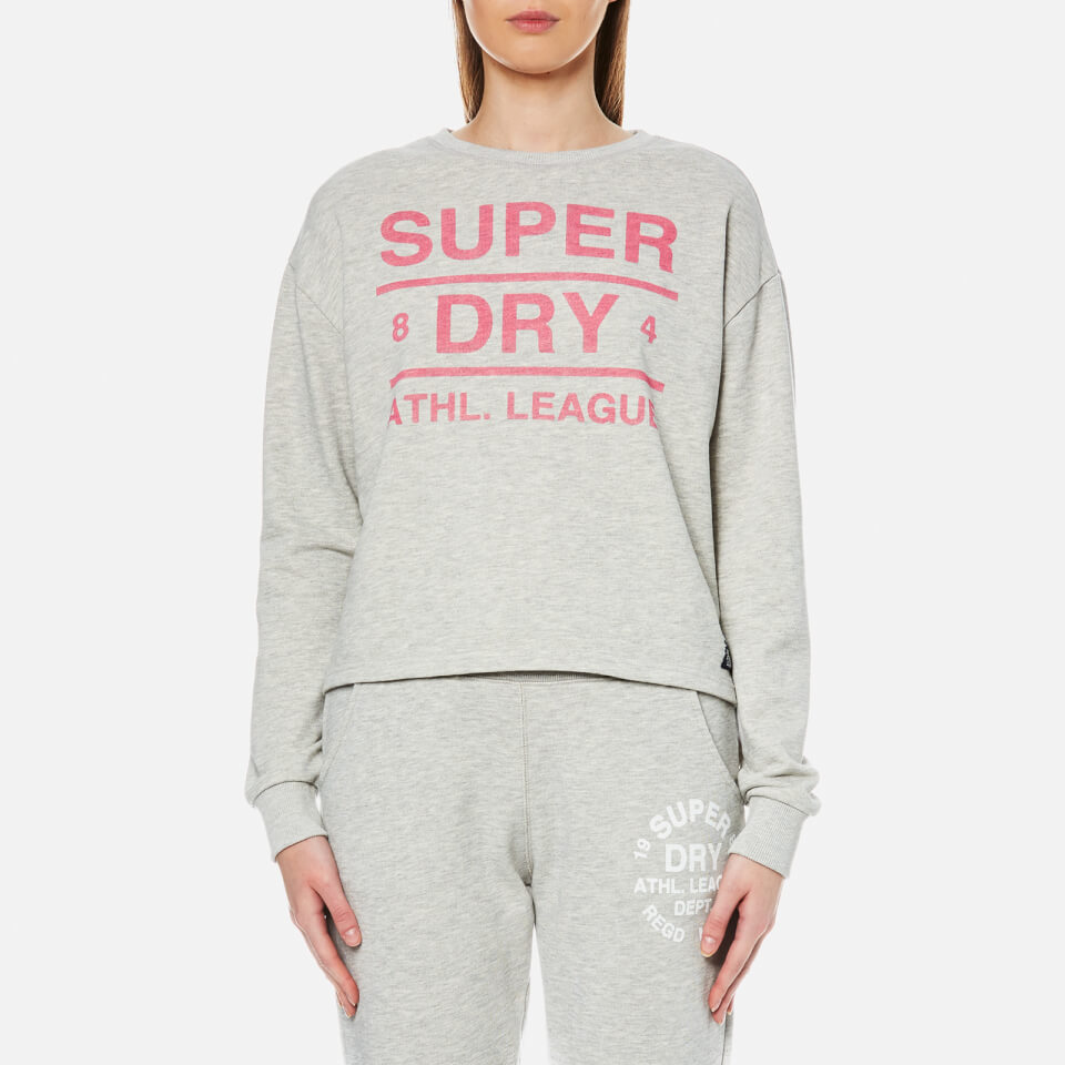 Gant Womens Crew Neck Sweatshirt - Grey Melange - M