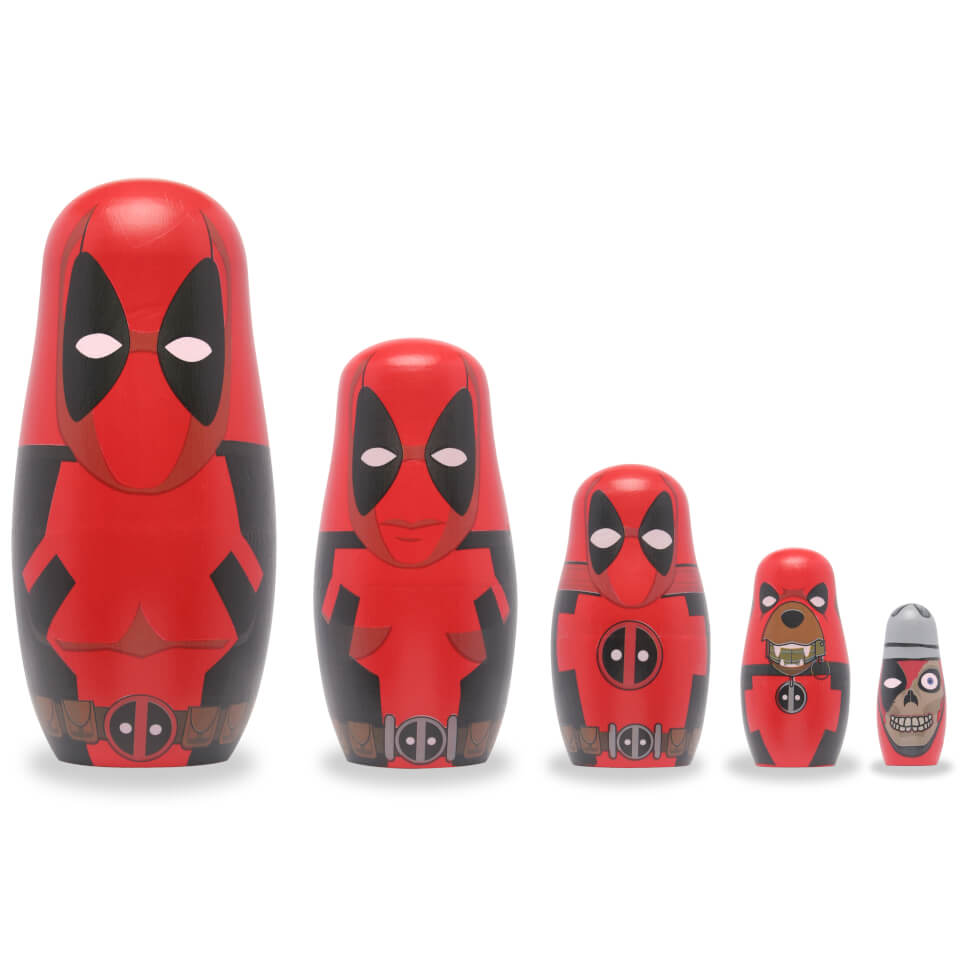 Marvel Deadpool Plastic Nesting Dolls