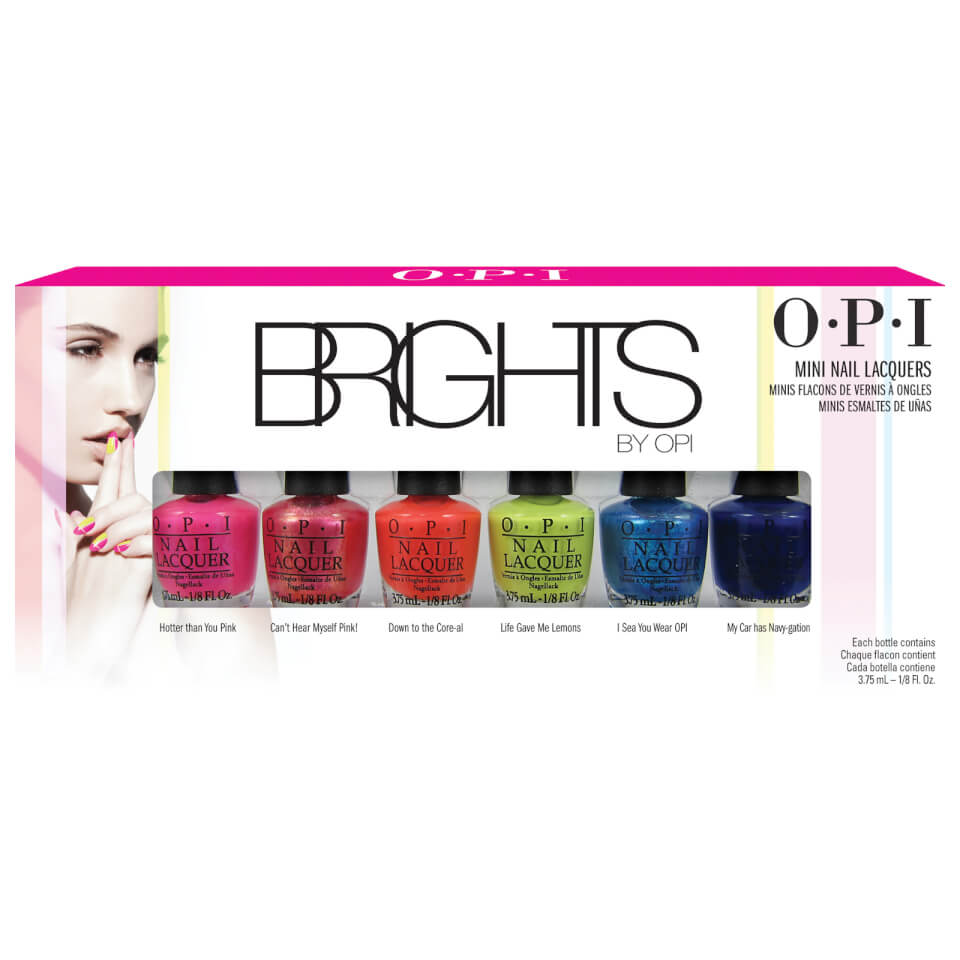 OPI Brights Mini Nail Lacquers 6 x 3.75ml   Recreate Yourself NZ