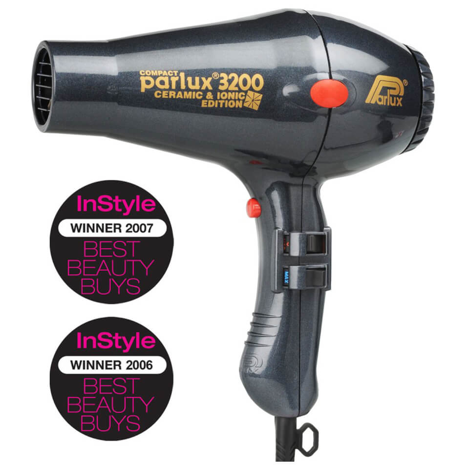 Parlux 3200 Ceramic And Ionic Hair Dryer Charcoal Free