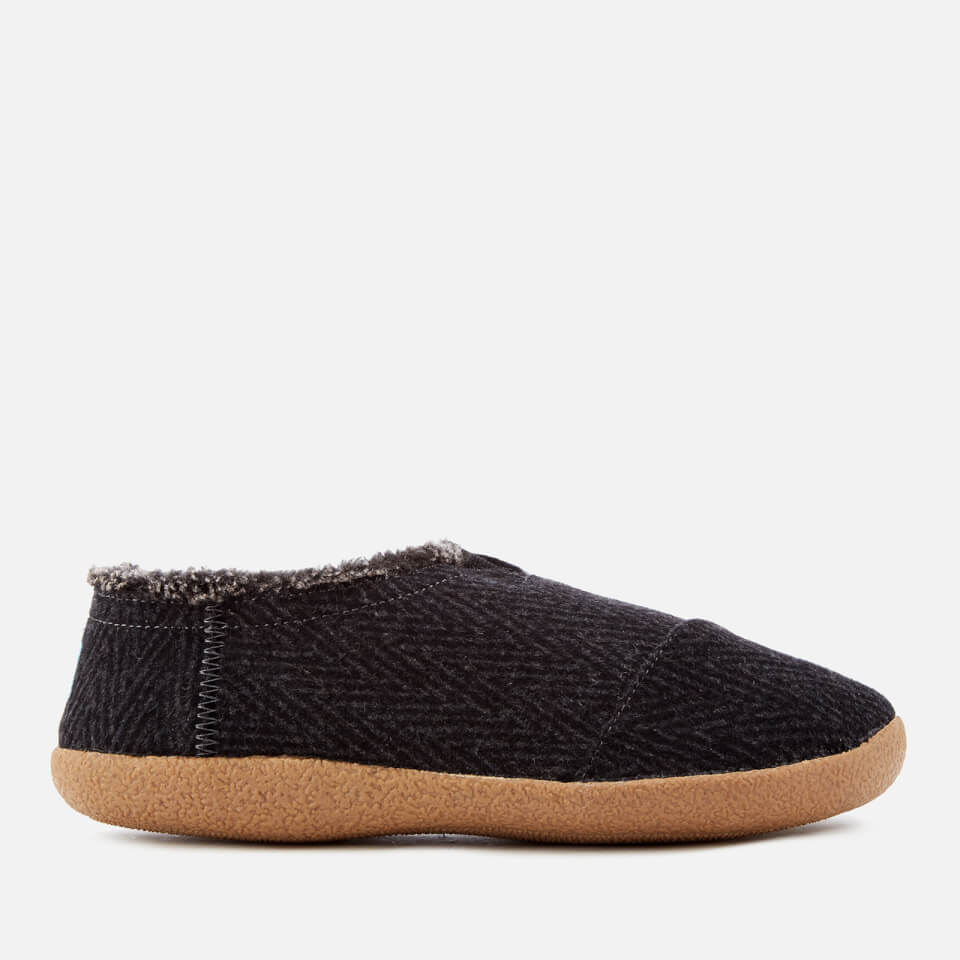 Toms Mens Wool House Slippers Black Uk 8/us 9