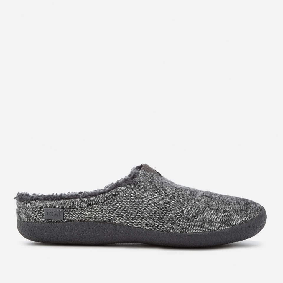 Toms Mens Berkeley Slub Textile Slippers Grey Uk 10/us 11