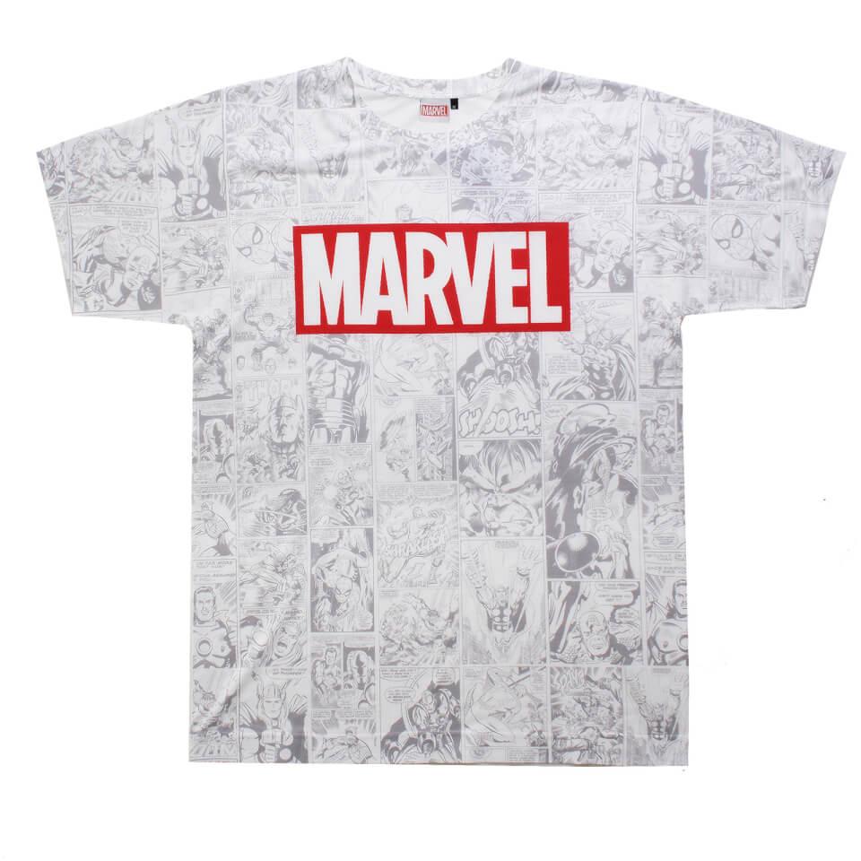 Marvel Men's Champions Sub T Shirt White XL