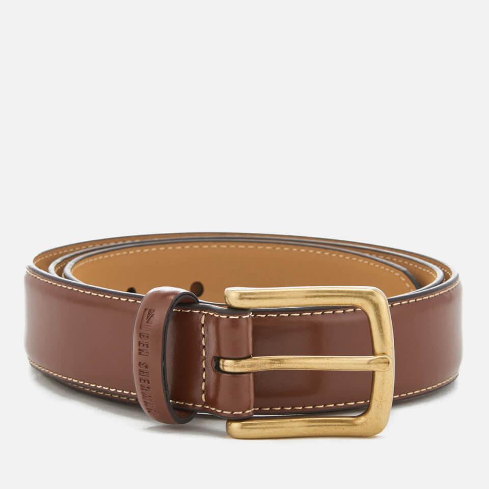Cinturón Cuero Ben Sherman Vauxhall - Hombre - Marrón/beige - L (38-42) - Brown