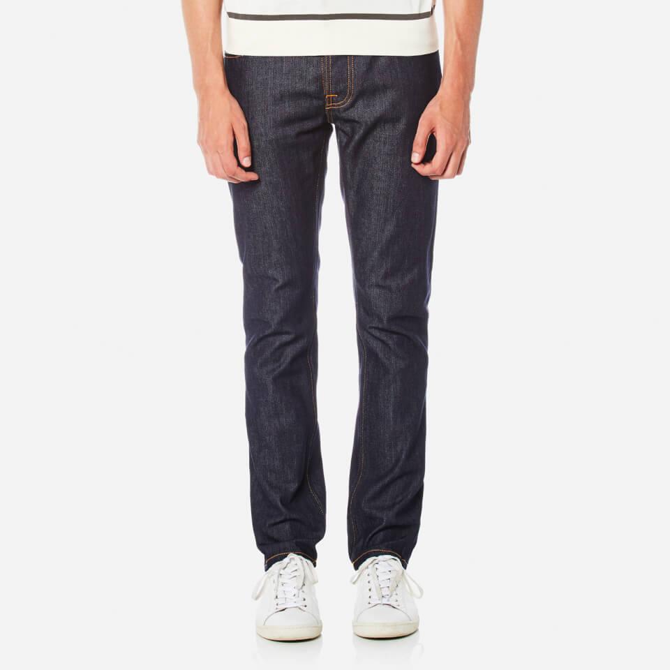 Nudie Jeans Mens Grim Tim Slim Jeans Dry Open Navy W34/l30