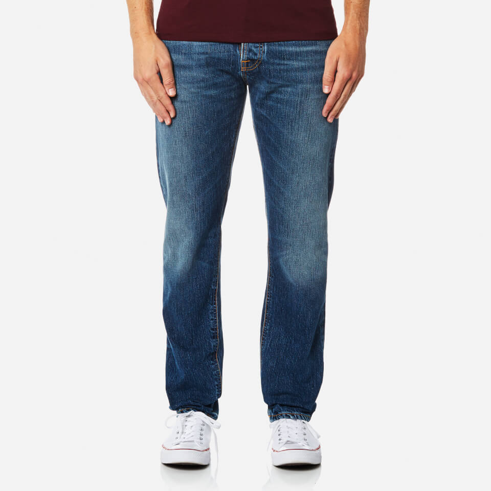 nudie jeans men 39 s fearless freddie straight leg jeans shaded rain free uk delivery over 50. Black Bedroom Furniture Sets. Home Design Ideas