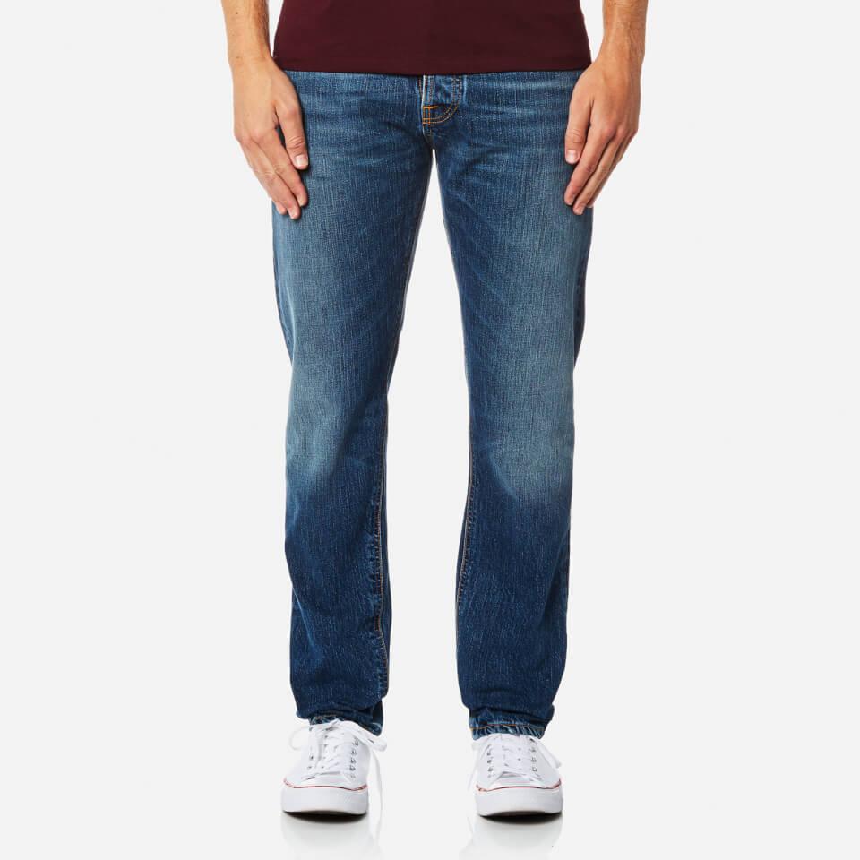 Nudie Jeans Mens Fearless Freddie Straight Leg Jeans Shaded Rain W30/l34
