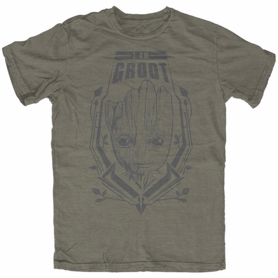 Marvel Men's Guardians of the Galaxy Vol.2 Groot T Shirt Khaki XXL