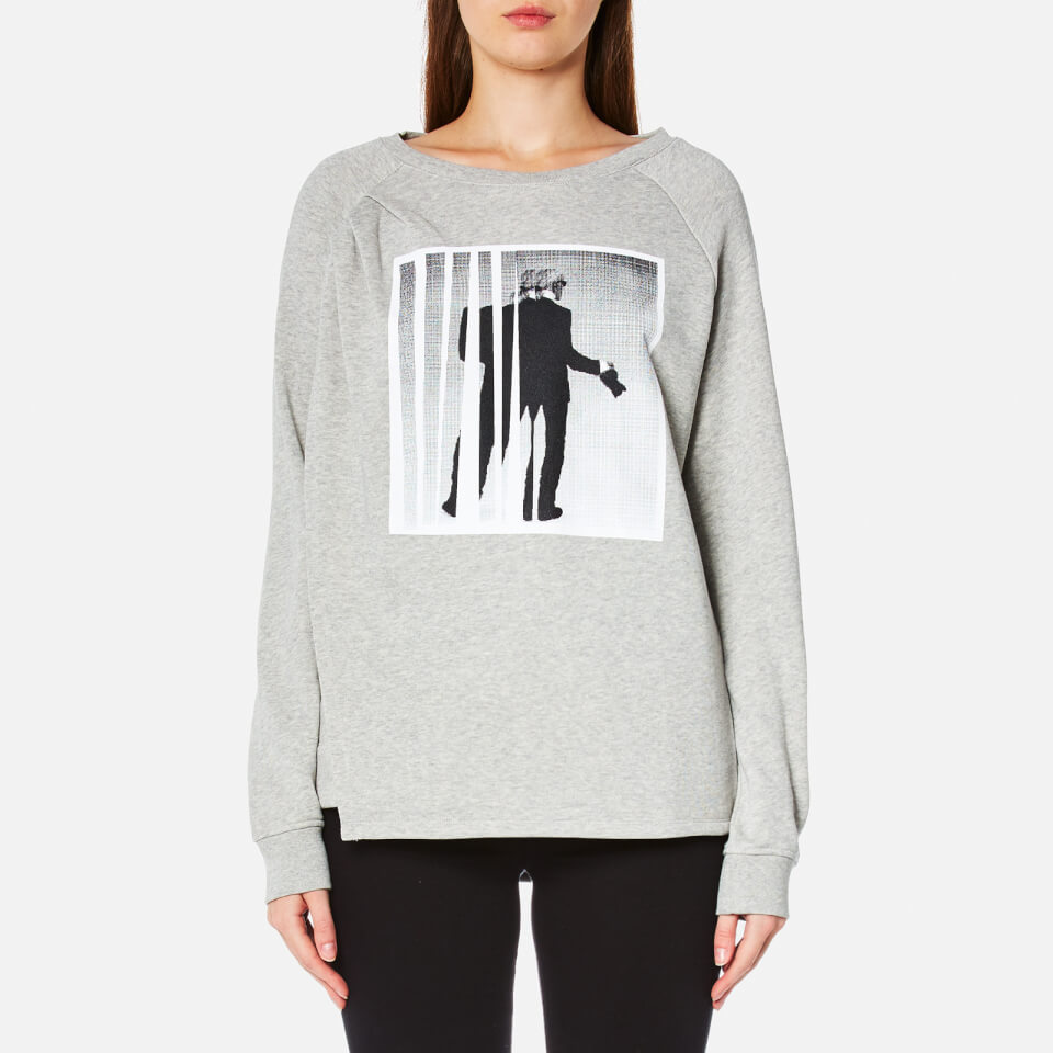Karl Lagerfeld Womens Karl Photographer Sweatshirt Grey Melange Xs
