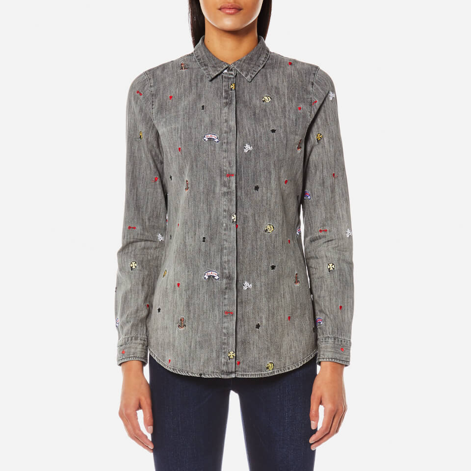 Maison Scotch Womens All-over Embroidered Shirt Combo B M