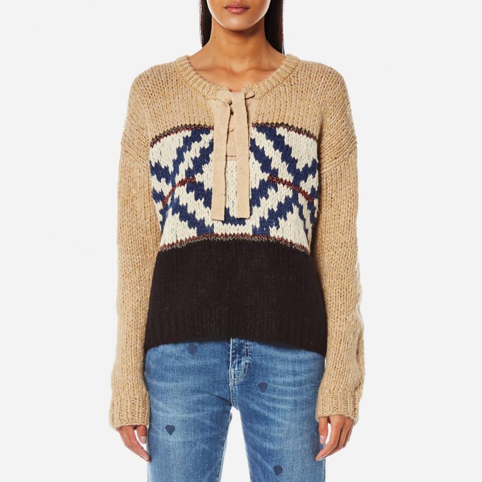 Maison Scotch Womens Jacquard Knitted Jumper Combo A L