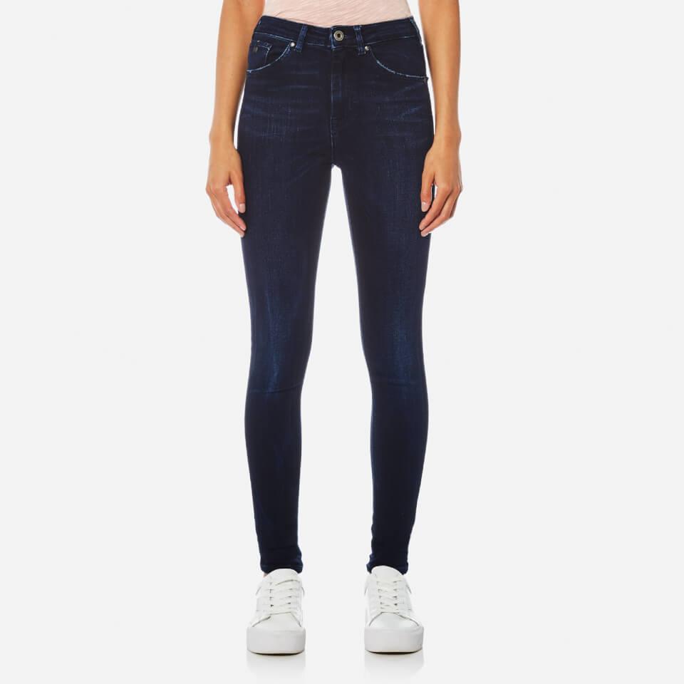 Maison Scotch Womens Haute High Rise Skinny Jeans Indigo W26/l32