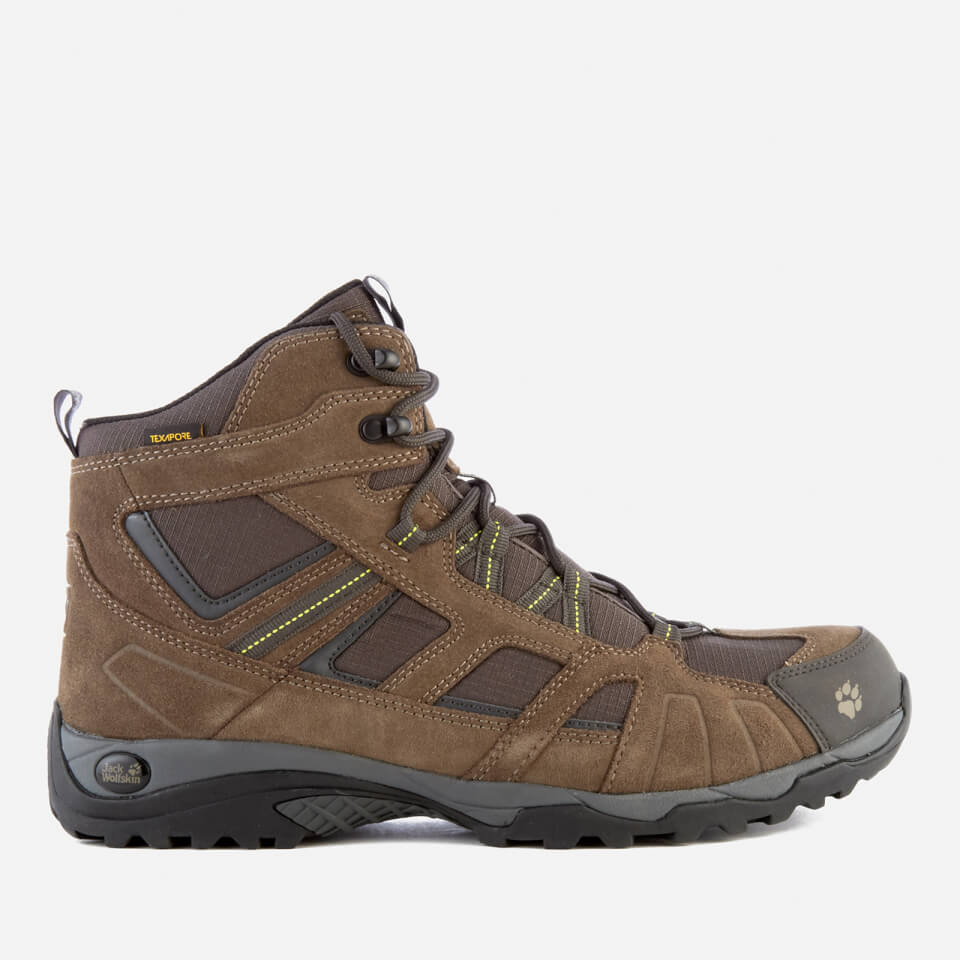 d17c4f94878 Jack Wolfskin Men's Vojo Hike Mid Texapore Boots - Flashing Green