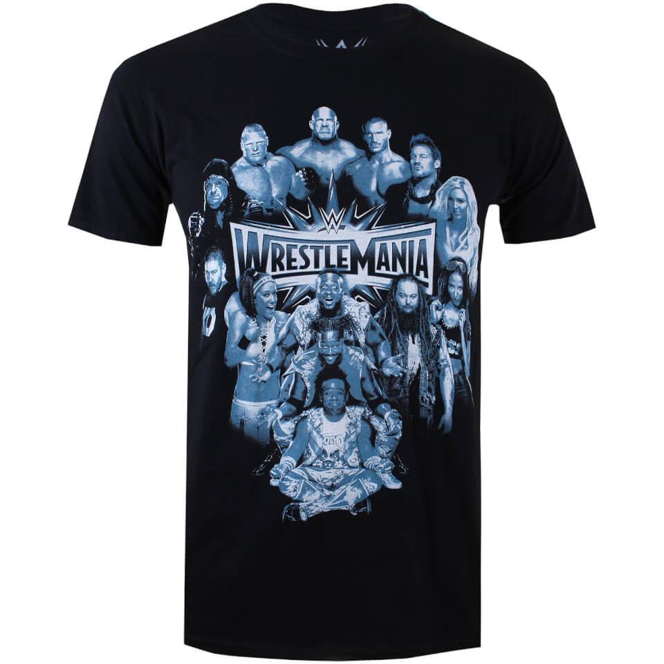 WWE Men's Wrestlemania Group T Shirt Black XXL