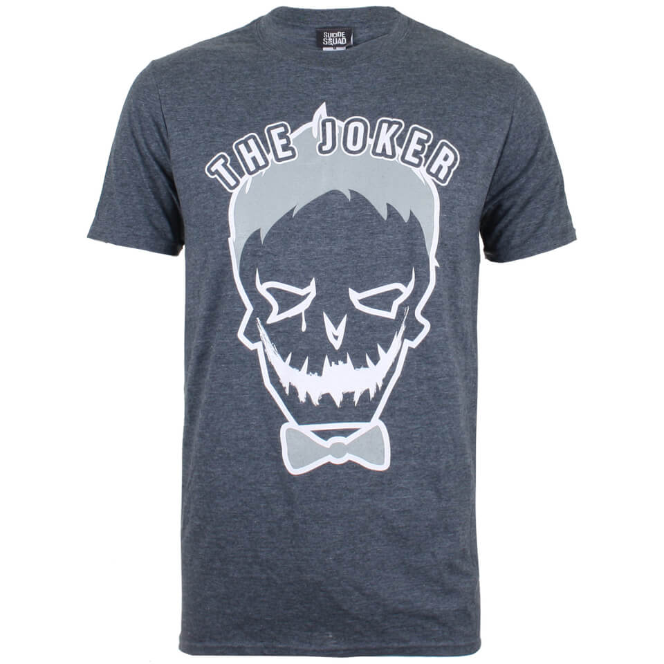 DC Comics Men's Joker Symbol T Shirt Dark Heather L Grau