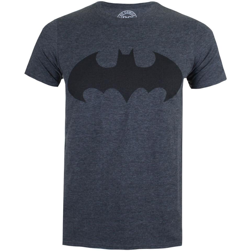 DC Comics Men's Batman Mono T Shirt Dark Heather S Grau