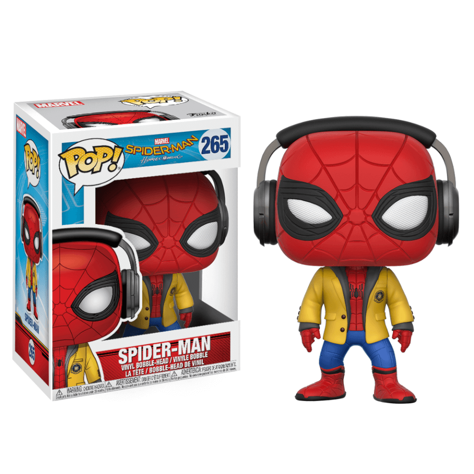 Spiderman Home Coming Spiderman mit Kopfhörern Pop! Vinyl Figur
