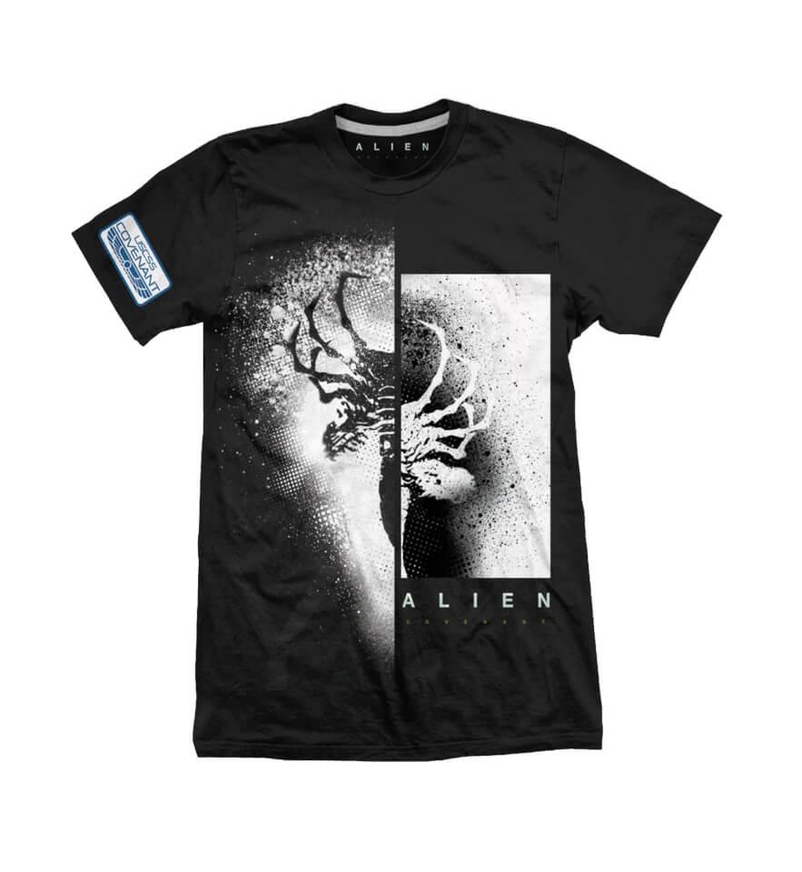 Camiseta Alien: Covenant  Rayos X - Hombre - Negro - S - Negro