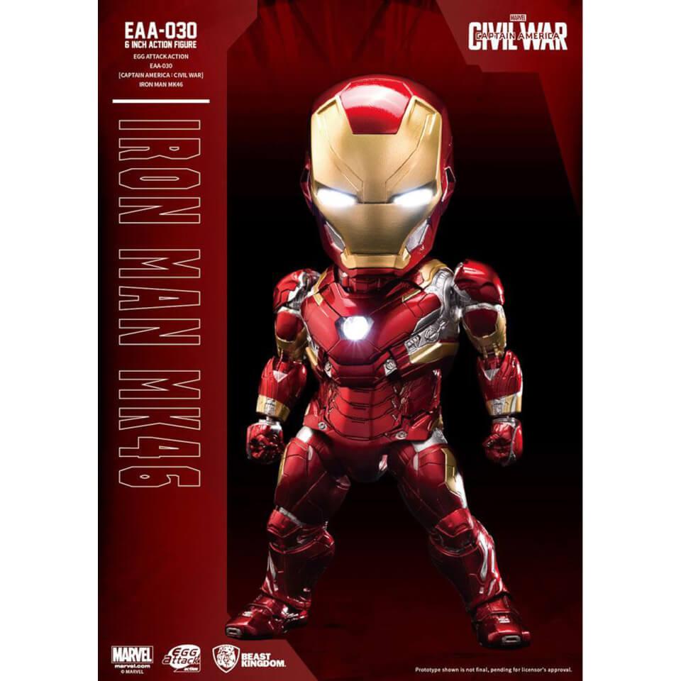 Beast Kingdom Marvel Captain America Civil War Egg Attack Iron Man Mark XLVI 16cm Action Figure