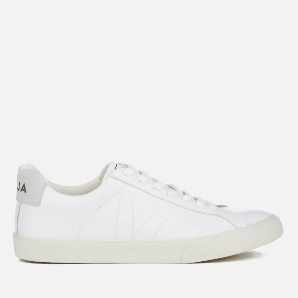 4a6efeadfae2a Veja Men s Esplar Leather Low Top Trainers - Extra White - Free UK Delivery  over £50