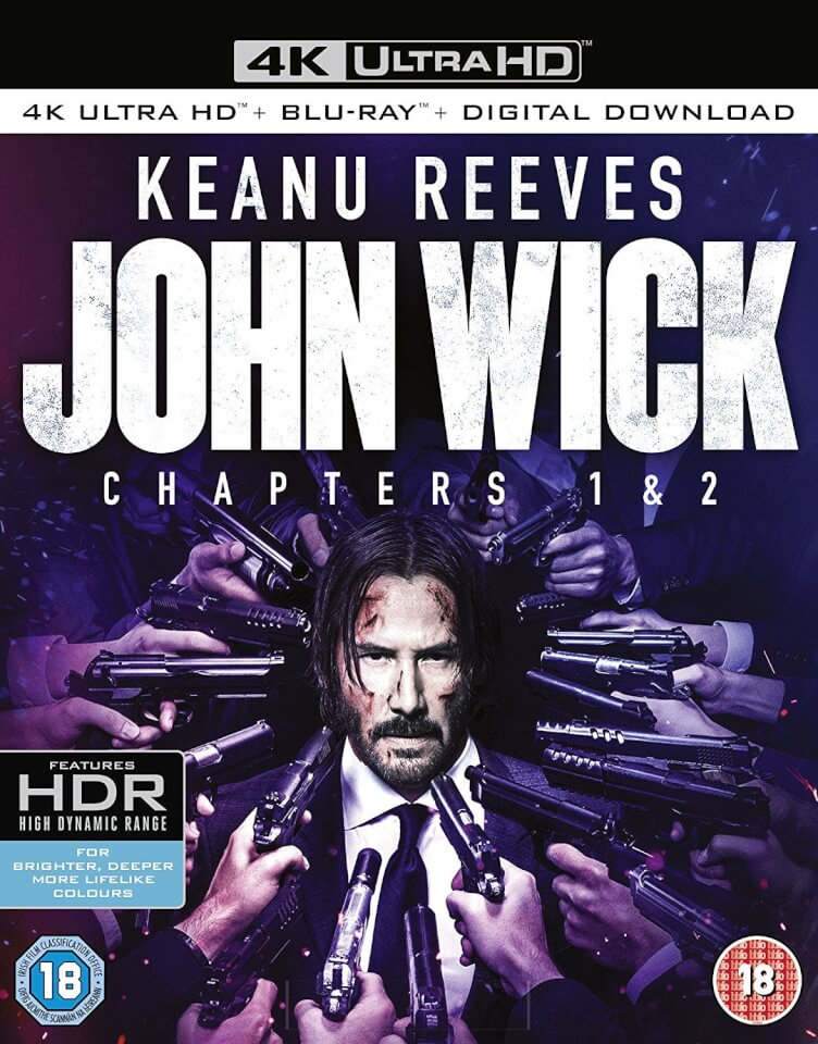 john wick 1 2 4k ultra hd blu ray zavvi. Black Bedroom Furniture Sets. Home Design Ideas