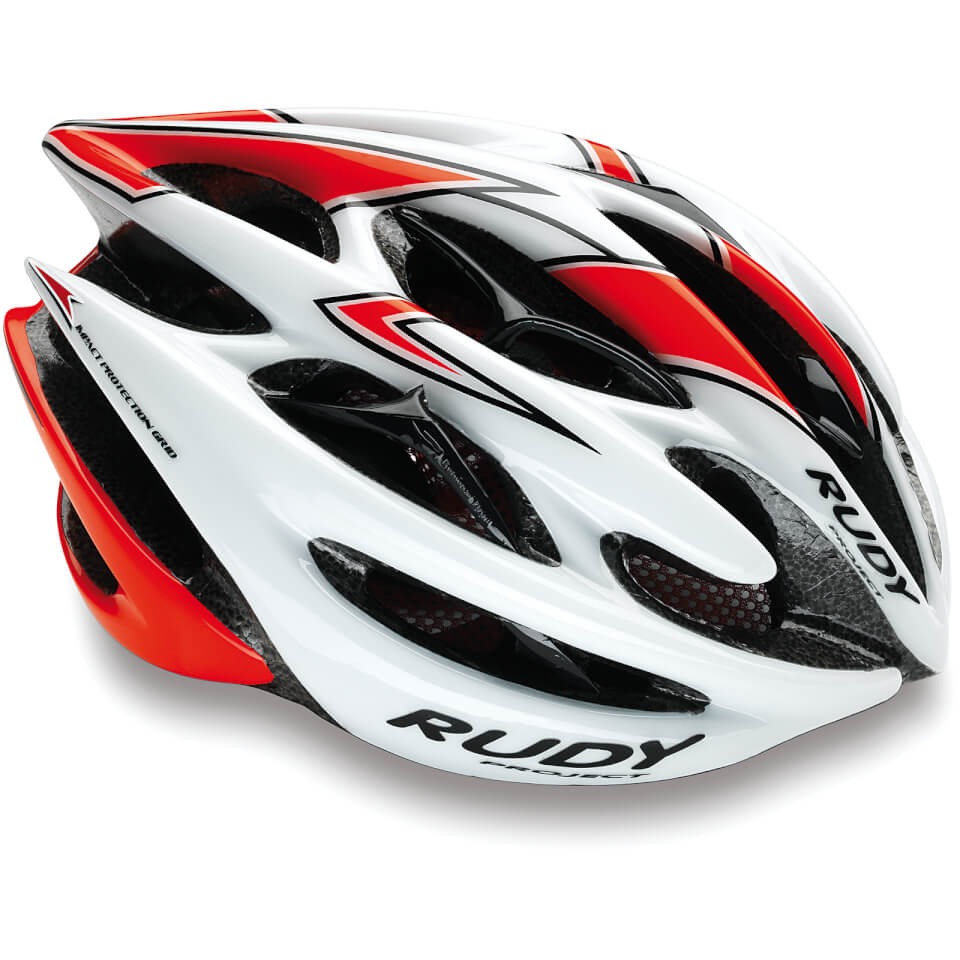 Rudy Project Sterling Helmet - L/59-61cm - White/Shiny Red Fluo