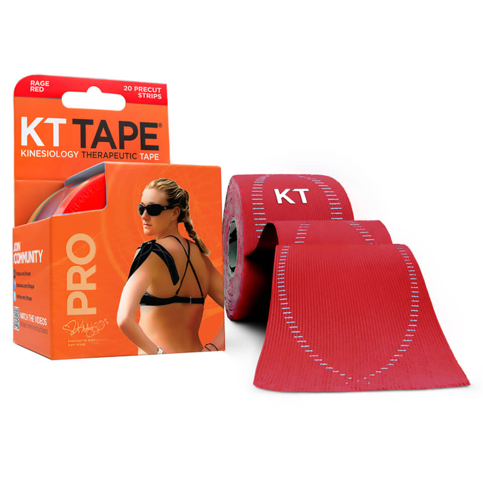 KT Tape Pro Synthetic Precut 10 - Rage Red