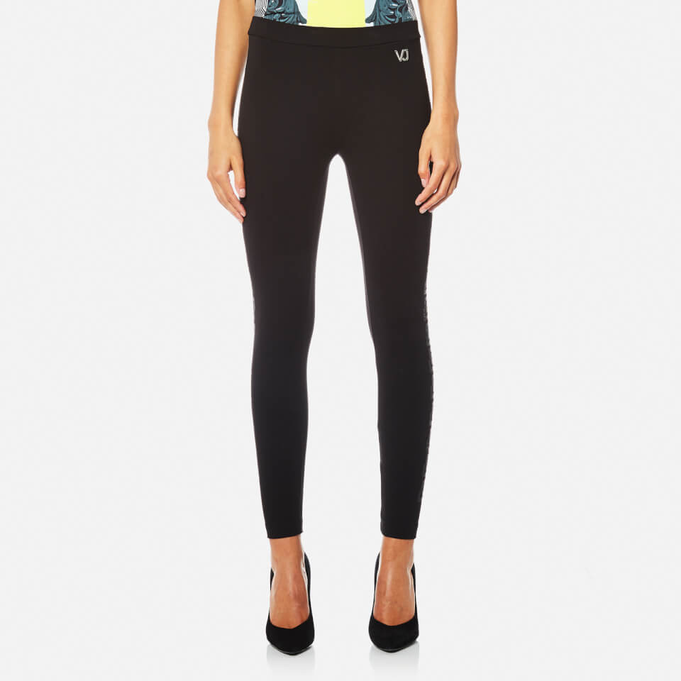 Versace Jeans Womens Leggings Black Eu 36