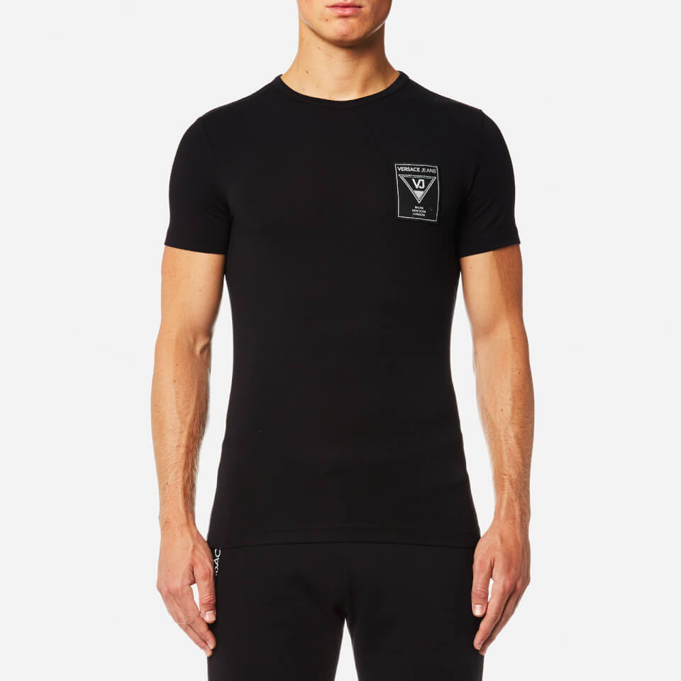 Versace Jeans Mens Small Chest Logo T-shirt Nero L