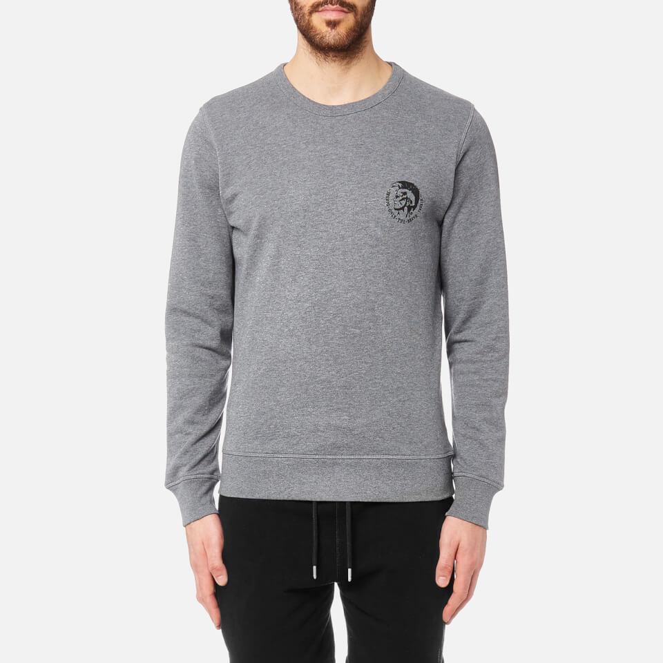 Diesel Men S Willy Sweatshirt Grey Mens Clothing