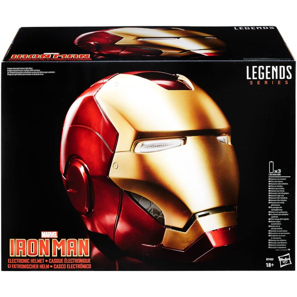 Casco Iron-Man Electrónico - Hasbro Marvel Legends (1:1)