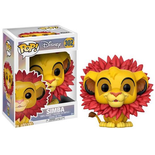 lion king simba leaf mane pop vinyl figure pop in a box uk