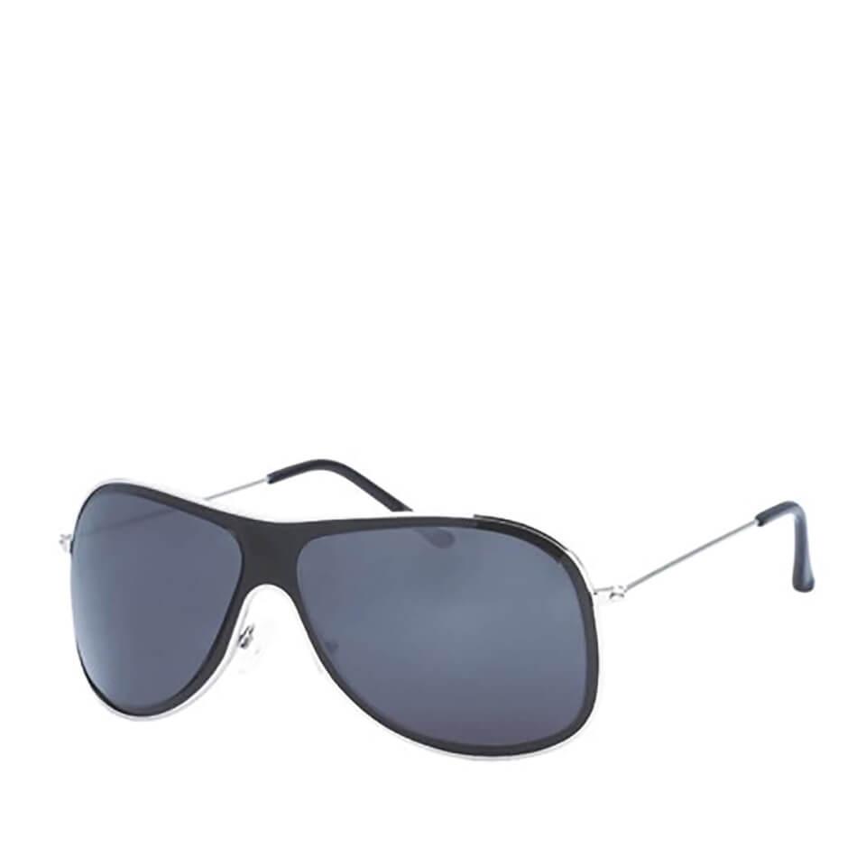 Gafas de sol Wrap - Hombre - Negro/plateado