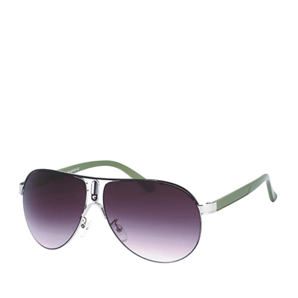 Gafas de sol Aviador - Hombre - Verde/negro