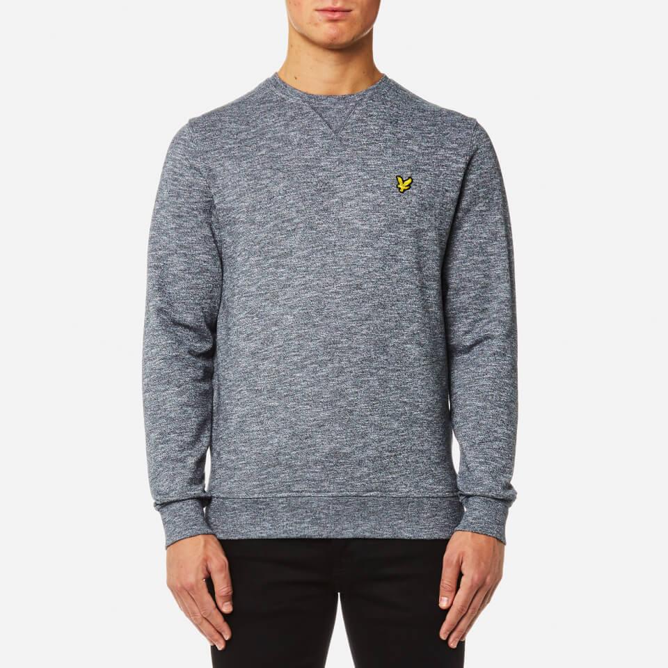 Lyle & Scott Mens Crew Neck Mouline Sweatshirt True Black L