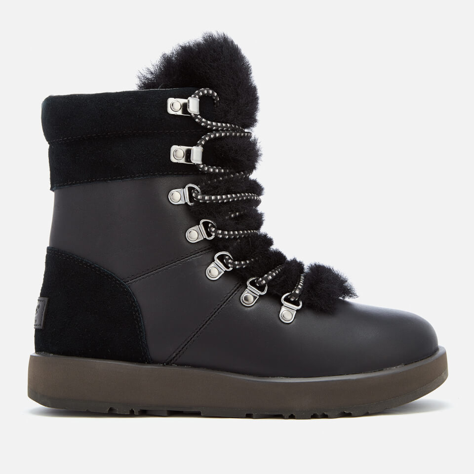 Ugg Women S Viki Waterproof Leather Lace Up Boots Black