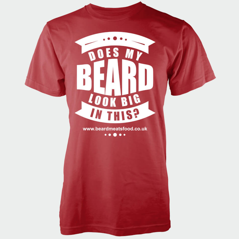 does-my-beard-look-big-in-this-men-red-t-shirt-xxl-punainen