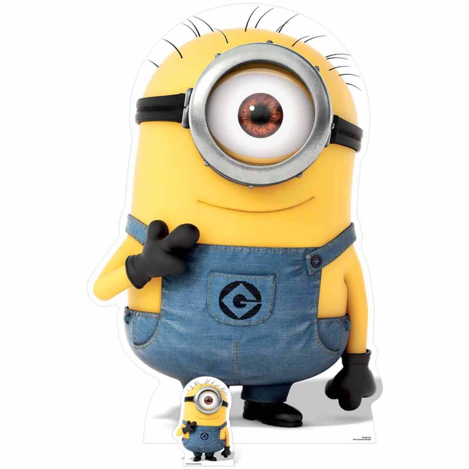 - Despicable Me 3 Minion Carl Smiling Over Sized Cut Out - Onlineshop Sowas Will Ich Auch