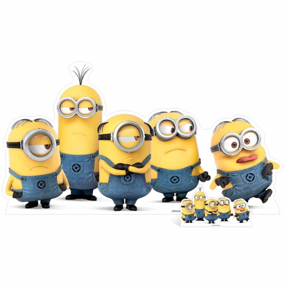 Despicable Me 3 Mischievous Minions Group Pose Over Sized Cut Out
