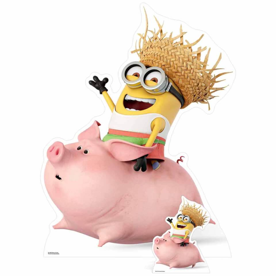 - Despicable Me 3 Minion Riding a Pig Over Sized Cut Out - Onlineshop Sowas Will Ich Auch