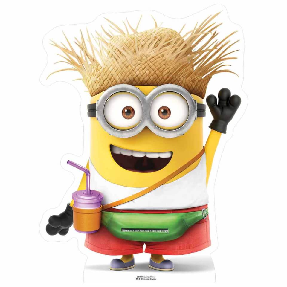 - Despicable Me 3 Vacation Minion with Drink Small Cut Out - Onlineshop Sowas Will Ich Auch