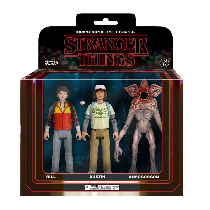 Funko Stranger Things 3 Pack Will Dustin And Demogorgon