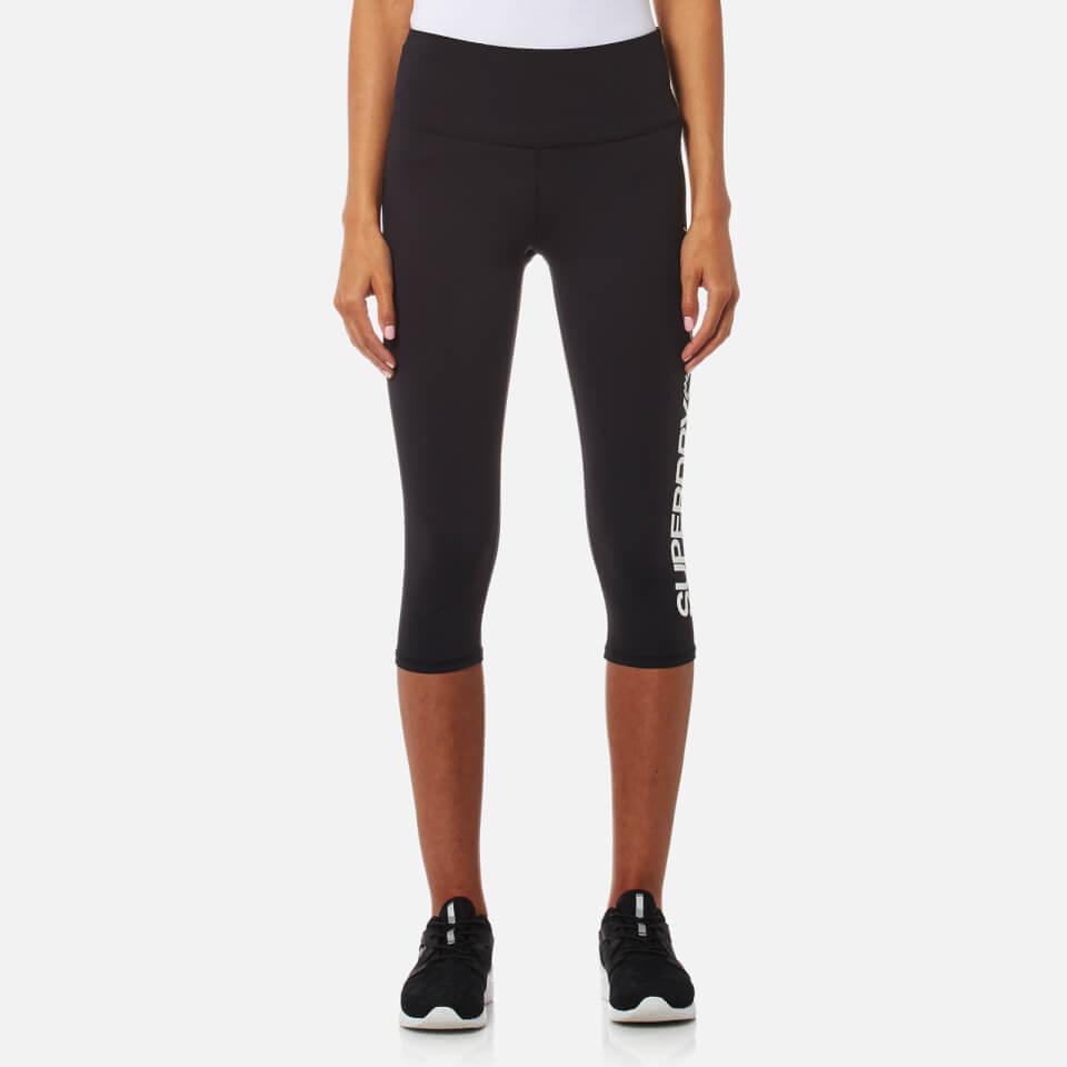 Superdry Sport Womens Essentials Capri Leggings Black S