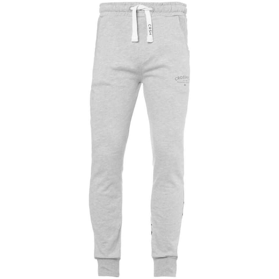 Crosshatch Men's Leeroy Sweatpants - Light Grey Marl - L - Gris
