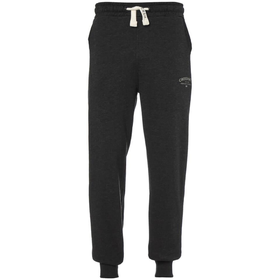 Crosshatch Men's Leeroy Sweatpants - Charcoal Marl - L - Gris