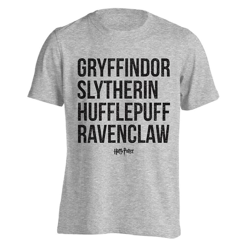 Harry Potter Men's House Names T Shirt Light Grey Marl XXL Grau