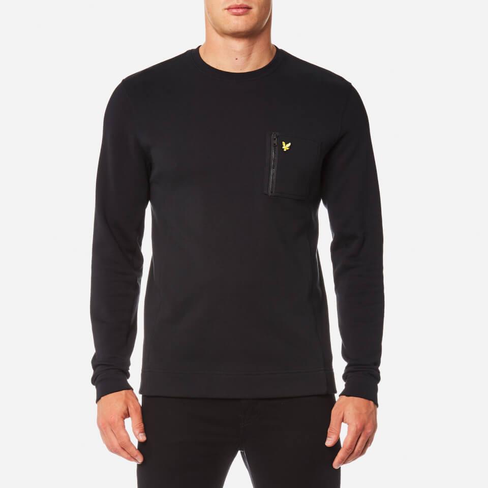 Lyle & Scott Mens Zip Pocket Sweatshirt True Black S