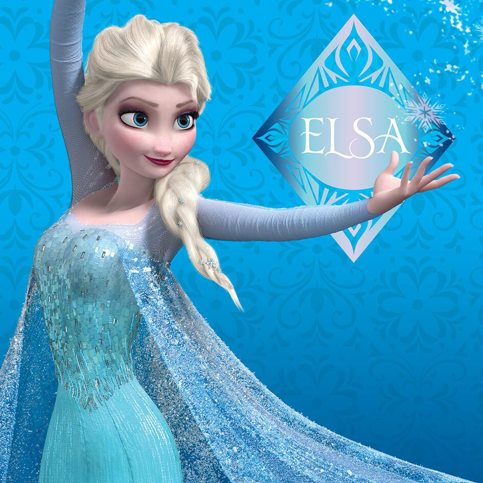 Disney Frozen Elsa Blue 30 x 30cm Canvas Print